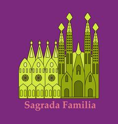 May 15 2014 a of la sagrada familia vector
