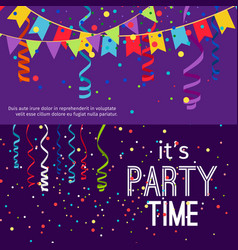 new year and christmas party banners set vector image