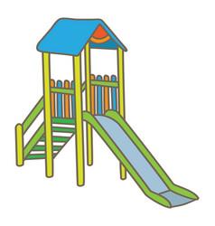 Playground slide vector