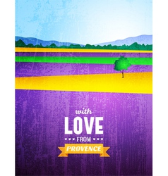 poster with a landscape provence vector image