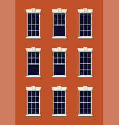 quality abstract building facade with empty vector image