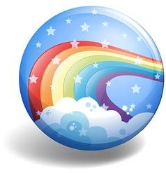 Rainbow badge vector image