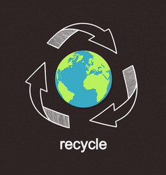 recycling worldwide vector image