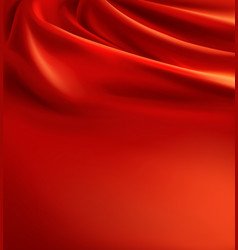 Red fabric background luxury silk cloth vector