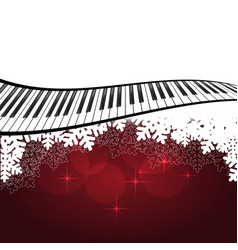 red template with piano vector image