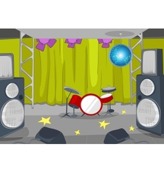 RockRoll Stage Cartoon vector image