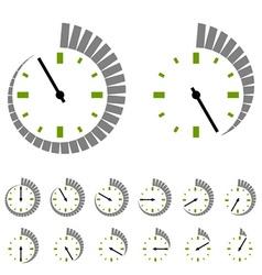 round timer symbols vector image