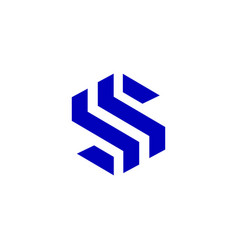 s initial letter modern logo design template vector image