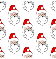 Santa Claus seamless pattern background vector image