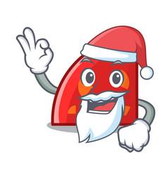 Santa quadrant mascot cartoon style vector