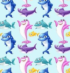 Seamless shark vector image