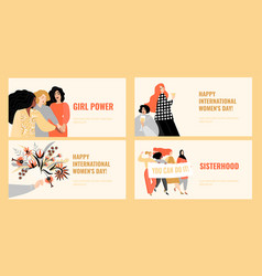 set banners international womens day vector image