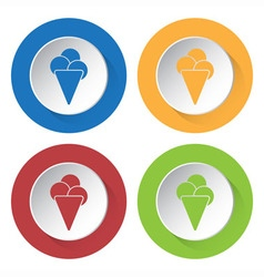 Set of four icons - ice cream vector