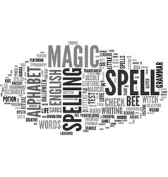 Spell word cloud concept vector