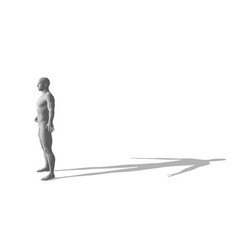 standing man isolated on white background 3d vector image