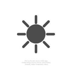 sun icon 11 vector image