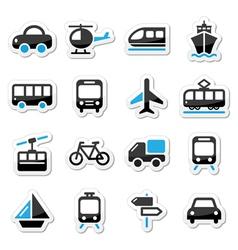 Transport travel icons set isoalated vector