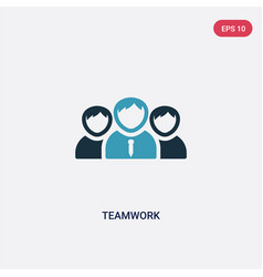two color teamwork icon from strategy concept vector image
