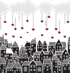 Valentines Day in the city vector