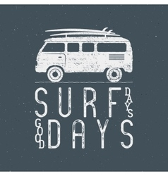 Vintage Surfing Graphics and Poster for web design vector image