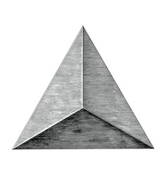 vintage triangle hand draw black and white clip vector image