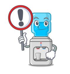 with sign cartoon water cooler for office and home vector image