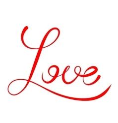 Word Love script vector image