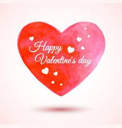 beautiful watercolor heart for valentines vector image