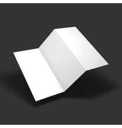Blank trifold paper brochure mockup vector image