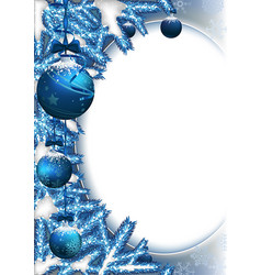 christmas background with baubles and branches vector image vector image