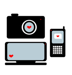 equipment on valentine s day vector image