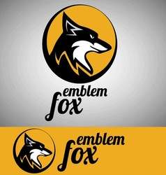 fox emblem vector image