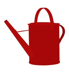 Red watering can vector image