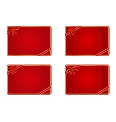 blank gift cards vector image vector image
