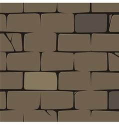 brick wall pattern vector image vector image