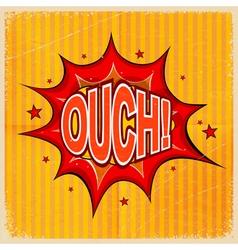 Cartoon blast OUCH vector image vector image