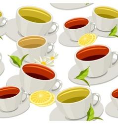 cups of tea vector image vector image