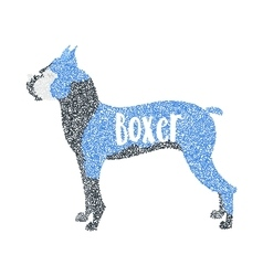 Form of round particles boxer dog breed vector image