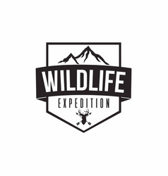 wilderness expedition design vector image