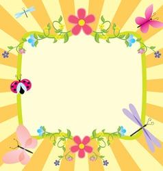 cartoon frame summer or spring easter vector image vector image