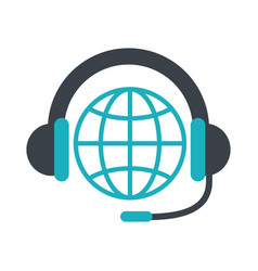 Customer service call center related icon image vector