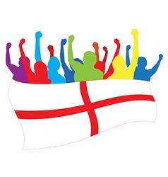 England fans vector image