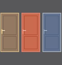 Flat Design Vintage Doors Collection vector image