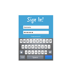 form template with keyboard vector image