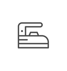 iron line icon vector image