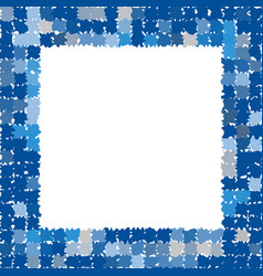 photo frame in different shades of blue vector image vector image