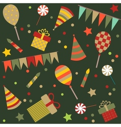 seamless background with party stuff vector image vector image