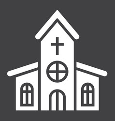 church glyph icon easter and holiday vector image vector image