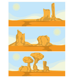desert rock mountains vector image