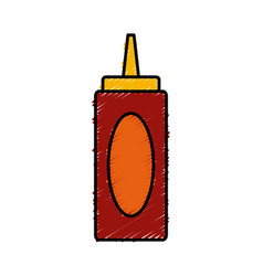 ketchup bottle isolated vector image vector image